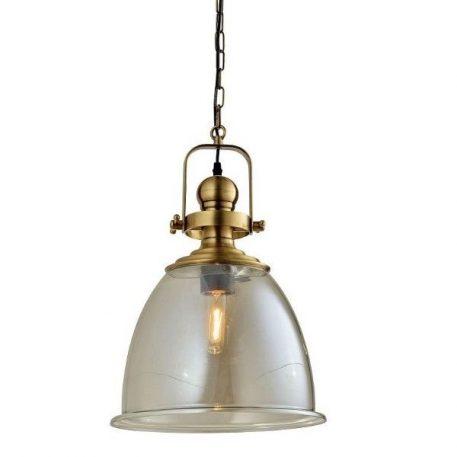Faro  Lampa wisząca – industrialny – kolor transparentny, złoty