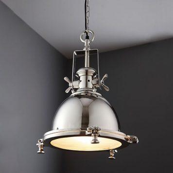 Fenton Lampa wisząca – industrialny – kolor srebrny