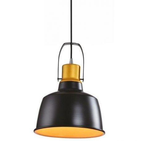 Finland  Lampa wisząca – industrialny – kolor złoty, Czarny