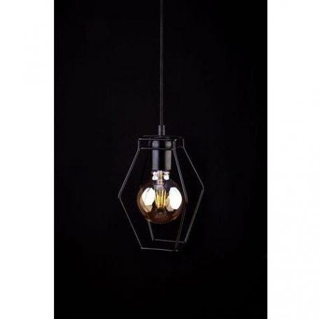 Fiord  Lampa wisząca – industrialny – kolor Czarny