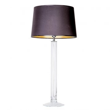 Fjord  Lampa nowoczesna – szklane – kolor połysk, transparentny, Czarny