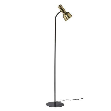 Flex Lampa podłogowa – Styl nowoczesny – kolor mosiądz, Czarny