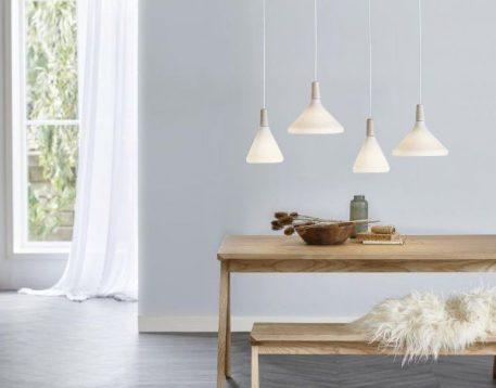 Float Lampa wisząca – szklane – kolor biały
