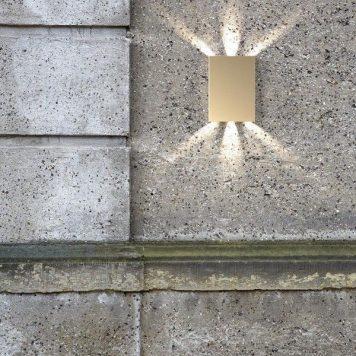 Fold Lampa zewnętrzna – Styl nowoczesny – kolor mosiądz, złoty