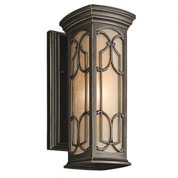 Franceasi Lampa zewnętrzna – szklane – kolor brązowy