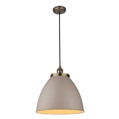 Franklin  Lampa wisząca – industrialny – kolor mosiądz, Szary