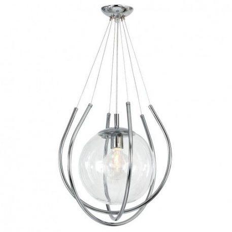 From  Lampa wisząca – szklane – kolor srebrny, transparentny