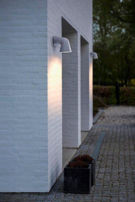 Front Single Lampa zewnętrzna – Styl nowoczesny – kolor biały