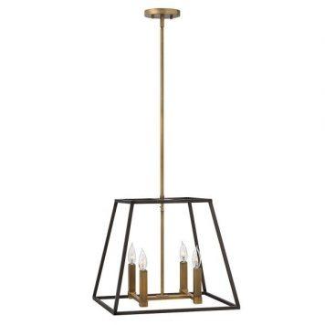 Fulton Lampa wisząca – industrialny – kolor brązowy