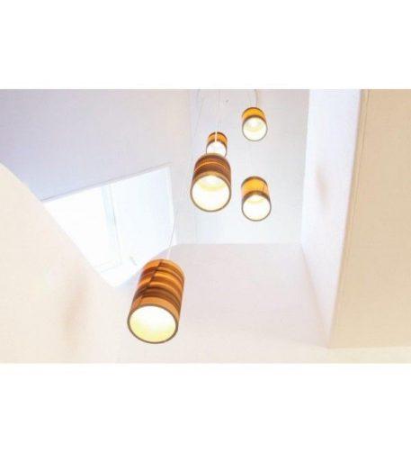 Funk  Lampa wisząca – Drewniane – kolor beżowy, brązowy