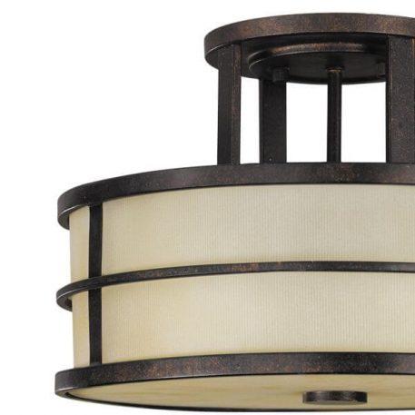 Fusion Lampa sufitowa – klasyczny – kolor beżowy, brązowy