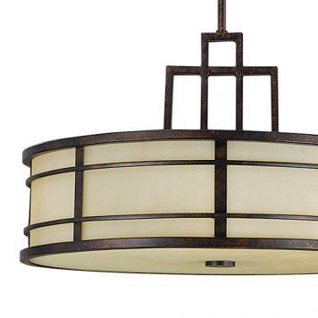Fusion Lampa wisząca – klasyczny – kolor beżowy, brązowy
