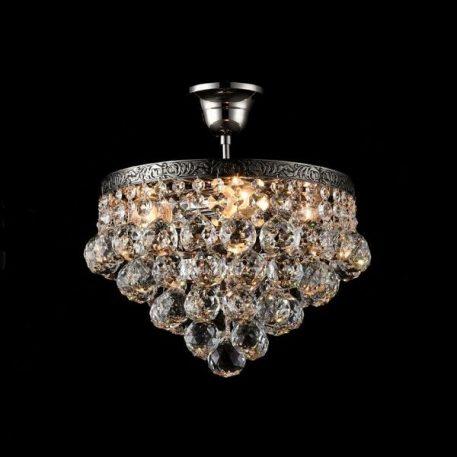 Gala Lampa sufitowa – kryształowe – kolor srebrny, transparentny