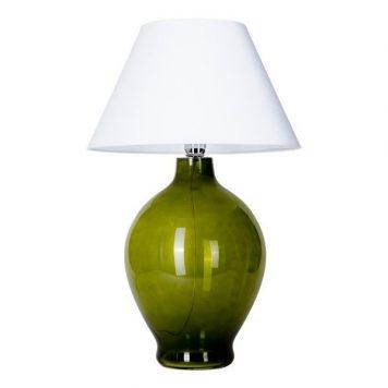 Genova Lampa stołowa – szklane – kolor biały, Zielony