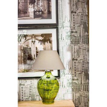 Genova  Lampa stołowa – szklane – kolor złoty, Zielony