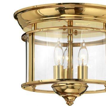 Gentry  Lampa sufitowa – szklane – kolor mosiądz, transparentny, złoty