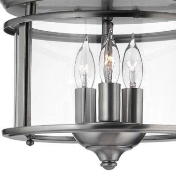 Gentry  Lampa sufitowa – szklane – kolor srebrny, transparentny