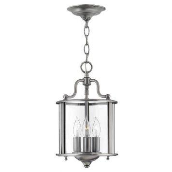 Gentry  Lampa wisząca – klasyczny – kolor srebrny, transparentny