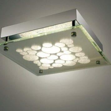 Genua  Lampa sufitowa – szklane – kolor srebrny