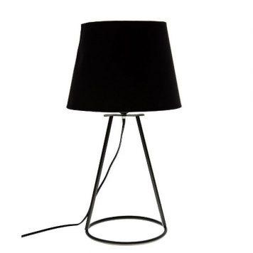 Geo  Lampa nowoczesna – Z abażurem – kolor Czarny