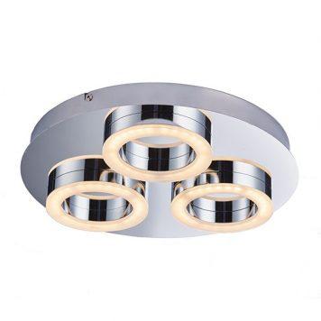 Geo  Lampa sufitowa – Styl nowoczesny – kolor srebrny