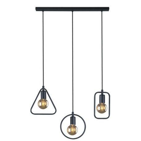 Geo  Lampa wisząca – industrialny – kolor Czarny