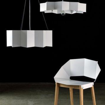 Geo Lampa wisząca – Styl nowoczesny – kolor biały