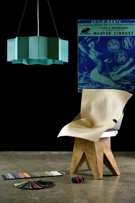 Geo Lampa wisząca – Styl nowoczesny – kolor Niebieski