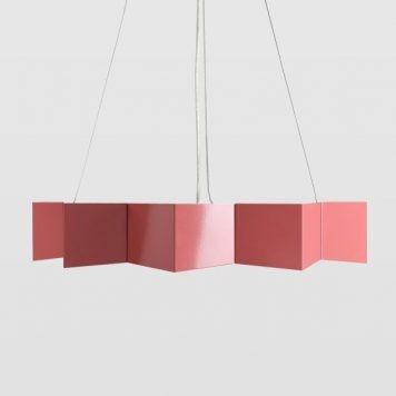 Geo Lampa wisząca – Styl nowoczesny – kolor różowy
