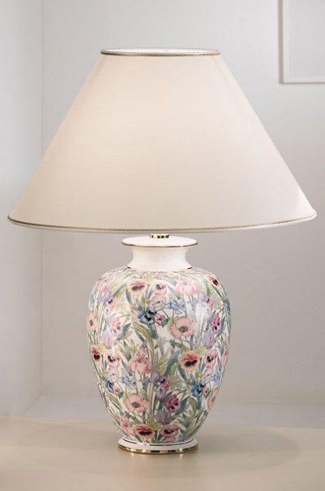 GIARDINO Lampa klasyczna – Z abażurem – kolor beżowy
