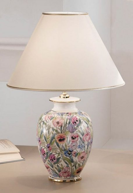 GIARDINO Lampa stołowa – Ceramiczne – kolor beżowy