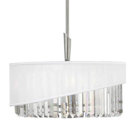 Gigi Lampa wisząca – Styl glamour – kolor biały, srebrny