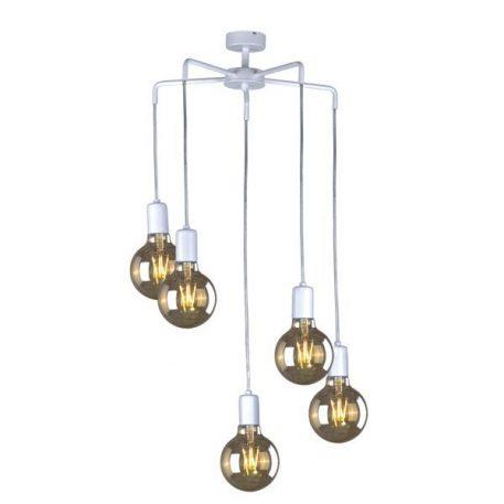 Gippy Lampa wisząca – Styl skandynawski – kolor biały