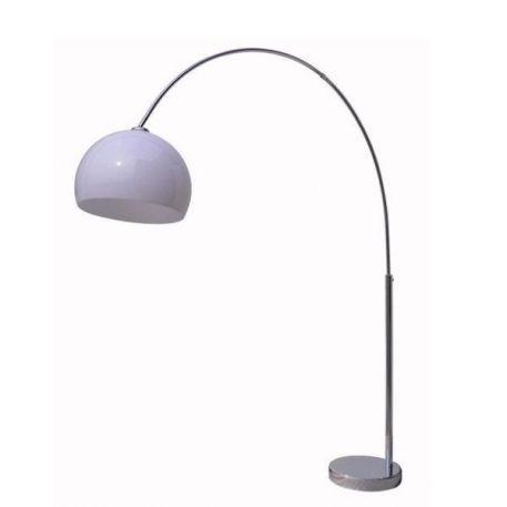 Glam  Lampa podłogowa – Styl nowoczesny – kolor biały, srebrny