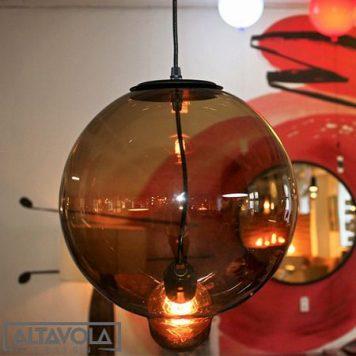 Glass Bubble Lampa wisząca – Styl nowoczesny – kolor brązowy, transparentny