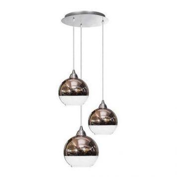 Globe  Lampa wisząca – Styl nowoczesny – kolor miedź, srebrny, transparentny