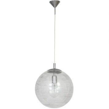 Globus  Lampa wisząca – szklane – kolor srebrny, transparentny