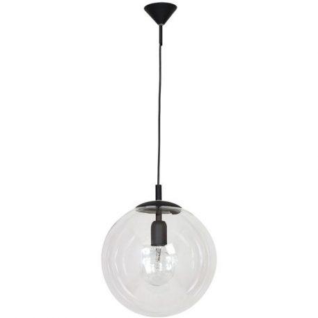 Globus  Lampa wisząca – szklane – kolor transparentny, Czarny