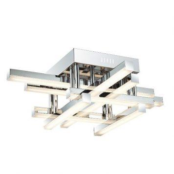 Gozo  Lampa sufitowa – Lampy i oświetlenie LED – kolor srebrny