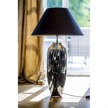 Granda  Lampa stołowa – szklane – kolor złoty, Czarny