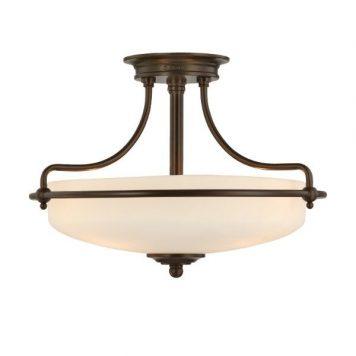 Griffin  Lampa sufitowa – klasyczny – kolor biały, brązowy