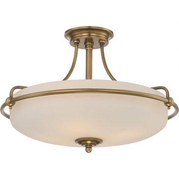 Griffin Lampa sufitowa – klasyczny – kolor biały, mosiądz