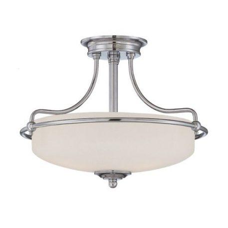 Griffin  Lampa sufitowa – klasyczny – kolor biały, połysk, srebrny