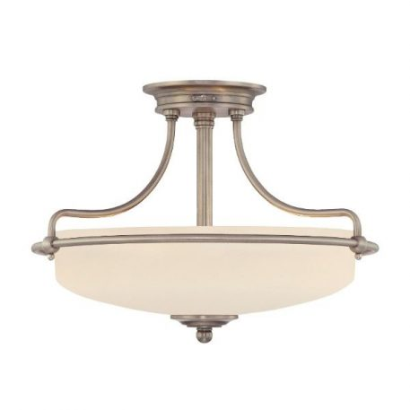 Griffin  Lampa sufitowa – klasyczny – kolor biały, srebrny