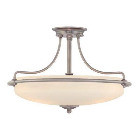 Griffin  Lampa sufitowa – szklane – kolor biały, srebrny