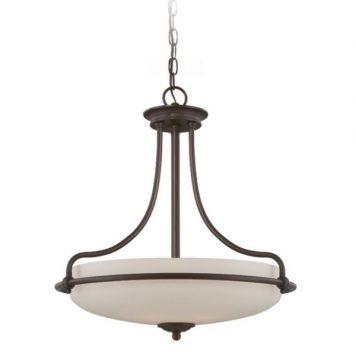 Griffin Lampa wisząca – szklane – kolor biały, brązowy
