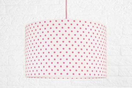 Grochy  Lampa wisząca – Z abażurem – kolor biały, różowy