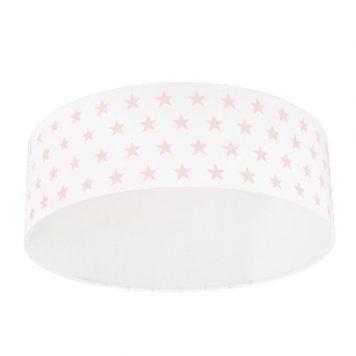 Gwiazdki Plafon – Styl nowoczesny – kolor biały, różowy