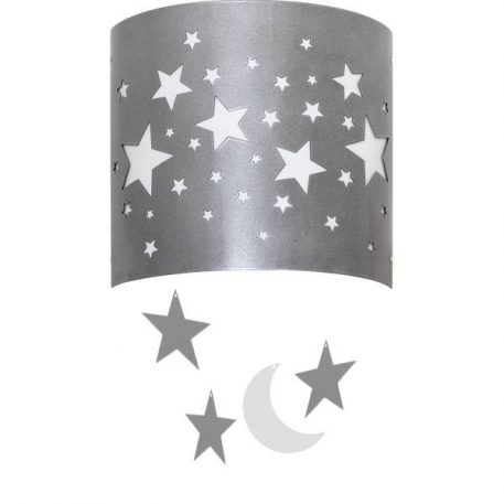 Gwiazdy  Kinkiet – kolor srebrny