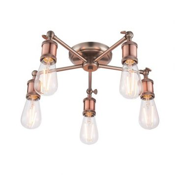 Hal  Lampa sufitowa – industrialny – kolor miedź